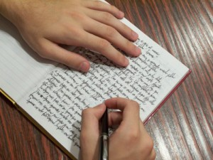 foto de escribir