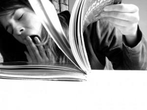 foto de estudiar. Falta de concentración. Aburrimiento