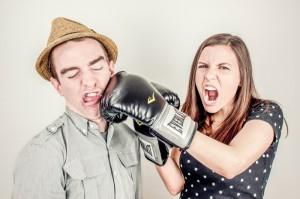 pareja enfadada